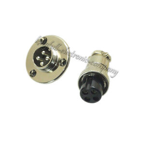 M16 16mm 4 Pin 4P Screw Aviation Circular Plug Flange Waterproof Connector