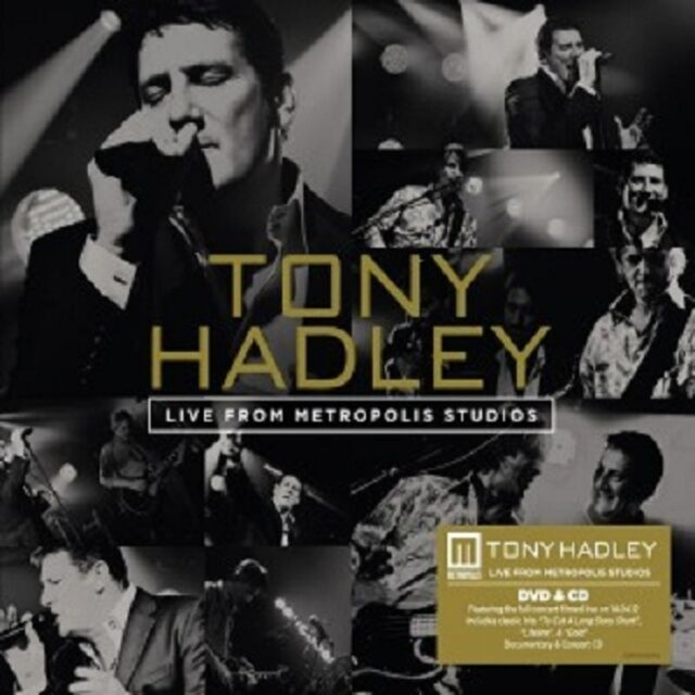TONY HADLEY - LIVE FROM METROPOLIS STUDIOS (DVD + CD)  INTERNATIONAL POP  NEU
