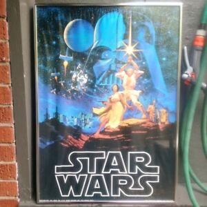 Early Original  Star Wars Poster - framed