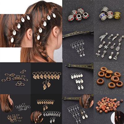 Fashion Ring Design Hair Braid Dread Dreadlock Beads Clips Cuff Hair Jewelry - Dread Hair Clips