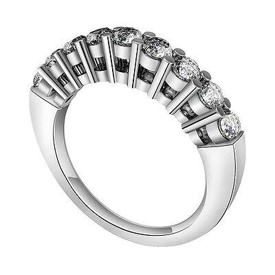 2ct Solitaire Diamonds Ring Guard Women 14k White Gold Finis