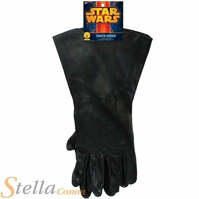 Mens Adult Darth Vader Gloves Star Wars Halloween Fancy Dress Costume Accessory
