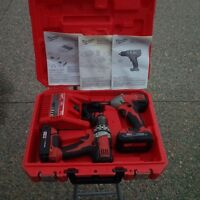 MILWAUKEE 18 VOLT M18 DRILL,IMPACT,2 BATTERIES,CHARGER & CASE