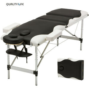 SEXY 84 IN PORTABLE ALUMINUM MASSAGE TABLE CARRY CASE FOLDING