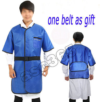New 0.35mmpb X-ray Protection Lead Apron Shield Vest Half Sleeves With Belt