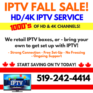 Get IPTV @ KW Cellular! Access to 1000s of HD & 4K Channels