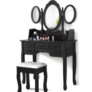 Dressing Table Stool 3 Mirror Jewellery Cabinet Drawers Makeup Sydney City Inner Sydney Preview