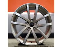 "18"" Gunmetal Vancouver style wheels and tyres for Golf MK5, MK6, MK7, Jetta, Seat Leon MK2, MK3"