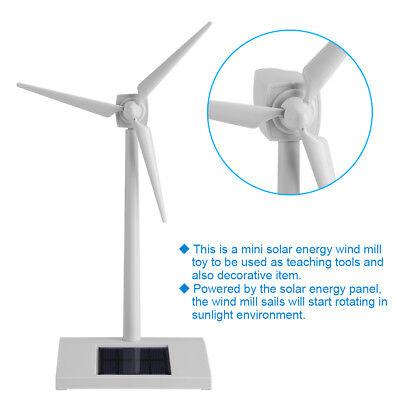 Solar Windmill - Mini Windmill Model Solar Wind Power Kids Science Teaching Toy Gift Study Decor