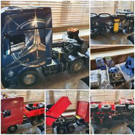 Rc tamiya/ Hercules lorries x2 rtr plus parts
