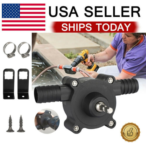 Home Electric Drill Drive Self Priming Pump Water Oil Fluid Transfer Pumps Tools Home & Garden