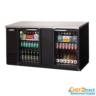 Everest Ebb69g 69 Back Bar Cooler W Glass Door
