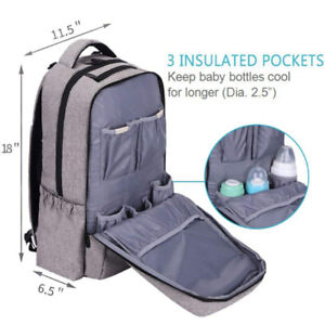 Lekebaby Unisex Baby Diaper Bag Backpack with Stroller Straps