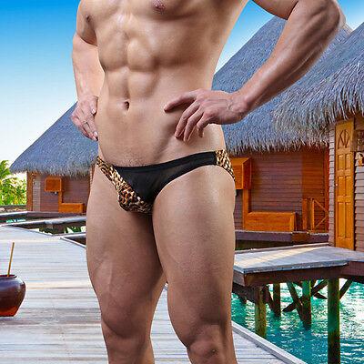Herren Sexy Leopard Sommer Slips Unterhose Bulge/Beutel/Tanga/Thongs Best ()