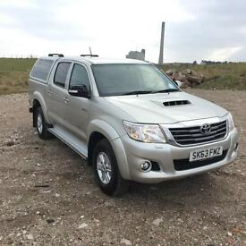 2013 63 plate Toyota Hi-Lux HL3 2.5 D-4D 4WD Silver Tow Bar, Canopy, Load Liner