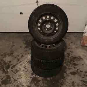 Four Toyota Eco tires with rim for sell