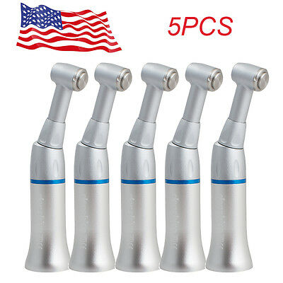 5pcs Dental Slow Low Speed Handpiece Push Button Contra Angle Warranty Ce Fda