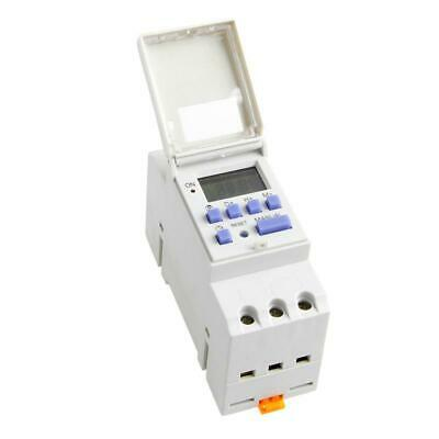 Din Rail Time Relay Switch Lcd Digital Power Programmable Timer Dc 12v New