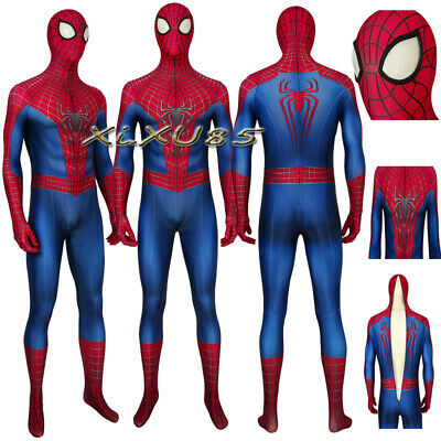 The Amazing Spider Man 2 Halloween Costume (New The Amazing Spider-Man 2 Peter·Parker Cosplay Costume Halloween jumpsuits)