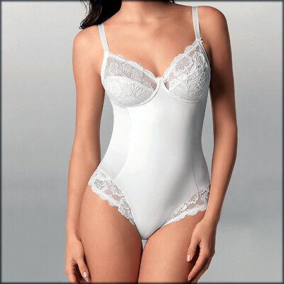 Body modellante intimo donna in pizzo contenitivo senza ferretto cotone Lepel