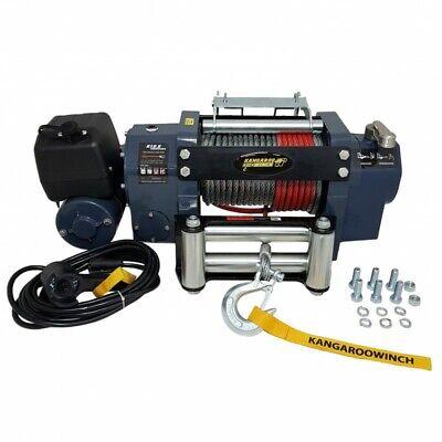 Elektrische Seilwinde K12,5ADV Schneckengetriebe Winde 12V Pannenhilfe Anhänger