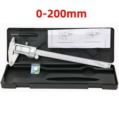 200mm8 Digital Vernier Caliper Gauge Stainless Steel Electronic Micrometer Us