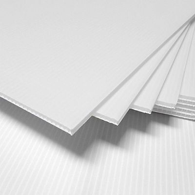 """4mm White 18"""" x 12"""" (2 pack) Corrugated Plastic Coroplast Sheets Sign * Vertical"""
