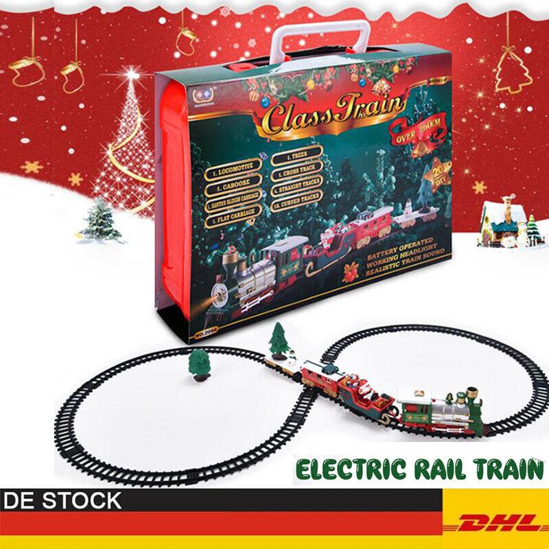 Weihnachtszug Weihnachten Zug Kinder Geschenk Spielzeug Musik Licht Eisenbahn DE