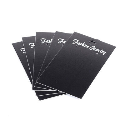 1000x Black Rectangle 3-hole Jewelry Earring Displays Cards Hanging Holder 9x5cm