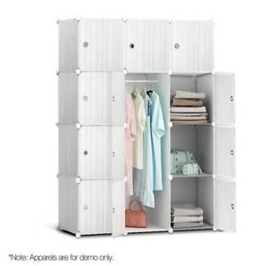 12 Cube Portable Storage Cabinet Wardrobe Closet White Sydney City Inner Sydney Preview