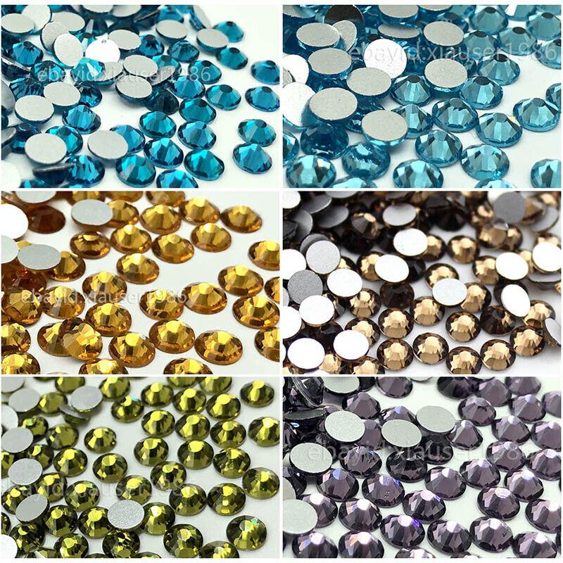 Nail Art Rhinestones Glitter Gems Tanzanite Capri Blue  Aquamarine Olivine Topaz