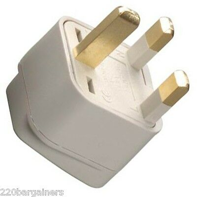 US USA To UK Ireland UAE British 3 Pin Square Plug Adapter Type G Converter