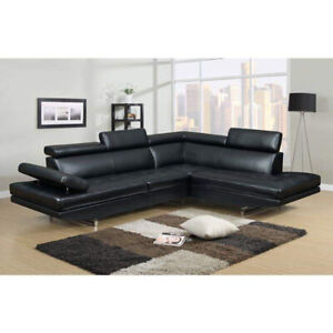 Black sectional couch new in box