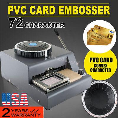 72-character Manual Stamping Machine Pvcidcredit Card Embosser Code Printer Ce