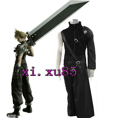 AS EXCLUSIVE Final Fantasy VII 7 Cloud Strife Cosplay Costume Halloween Any Size