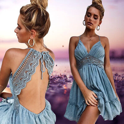 US Stock New Women Sexy Casual Evening Cocktail Party Short Beach Dress Sundress - New Sexy Cocktail