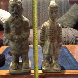 Pair of oriental warriors