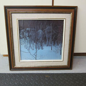 Framed Wolves Print