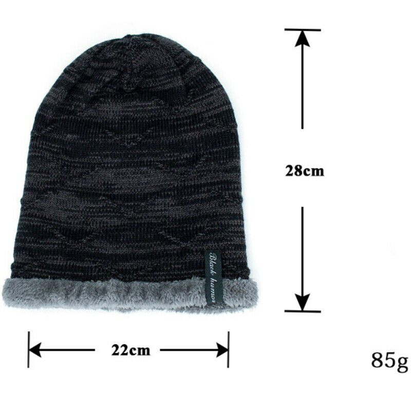 Unisex Knit Outdoor Fleece Cap Snow