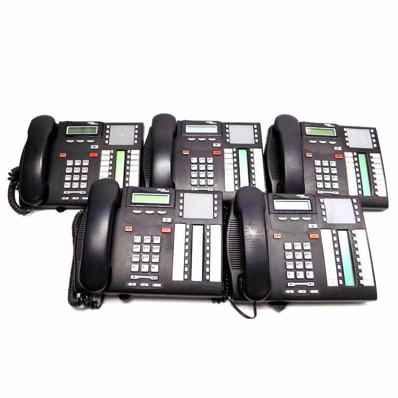 (Lot of 5) Nortel Norstar T7316E Digital 2-Line Business Office Phones w/ Stands