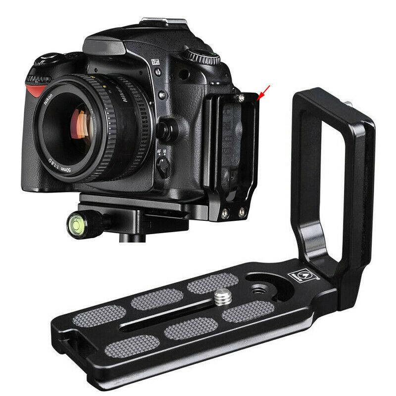 Universal Quick Release QR L Plate Camera Vertical Bracket Holder Tripod Adapter