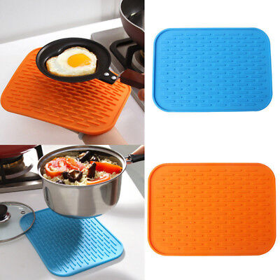 1x Kitchen Silicone Hot Pot Pan Heat Resistant Mat Pastry Pad Holder Gadget (Silicone Hot Pad)