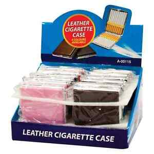 FAUX-LEATHER-CIGARETTE-CASE-CHROME-POCKET-FAG-CIGARETTE-HOLDER-TIN-TOBACCO-CASE