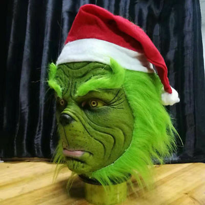 The Grinch Halloween Costume (The Grinch Cosplay Mask Adult Costume Helmet How the Grinch Stole Christmas)