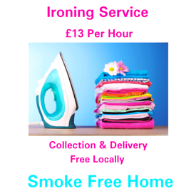 Ironing Service £13 Per Hour
