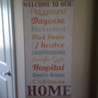 Welcome to our Home Canvas picture