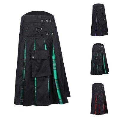 Herren Kilt Schottenrock Gothic Festival Schottenkaro Rock Traditionell Dress - Herren Kilt Kostüm