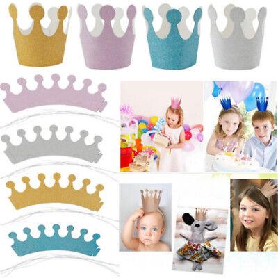 Newborn Baby Boy Girl 1st Birthday Party Princess Crown Flower Tiara Headband (Baby Girl 1st Birthday Party Supplies)