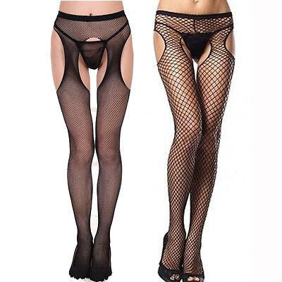Fishnet Net Open Crotch Crotchless Tight Elastic Stockings Panty Hose Pantyhose ](Fish Net Panty Hose)