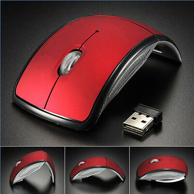 (Portable 2.4G Wireless Foldable Folding Arc Optical Mouse for Laptop Notebook UK)